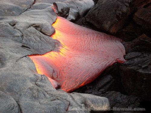 Lava Flow Hawaii Volcanoes