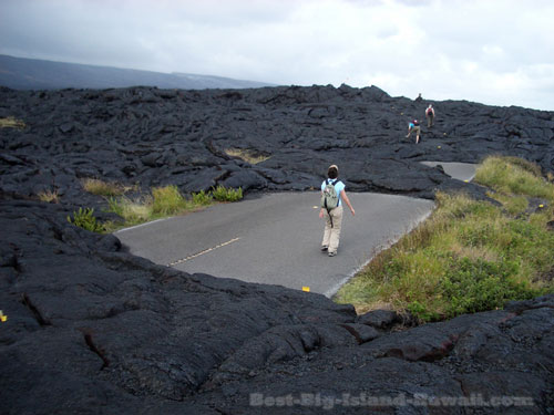 Lava Flow End of Chain of Craters Road