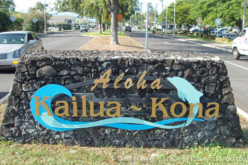 Kona Hawaii Kailua-Kona Aloha Sign