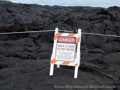 Lava Flow Hawaii Warning Sign