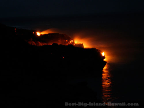 Lava Flow Hawaii Ocean