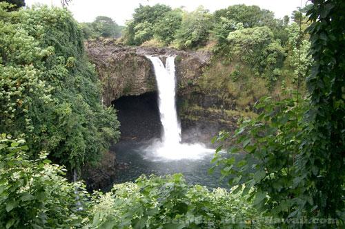 Hawaii Waterfalls Big Island Rainbow Falls