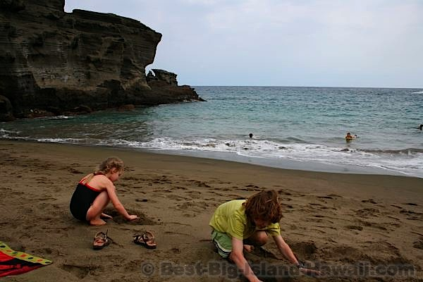 Green Sand Beach Big Island Hawaii