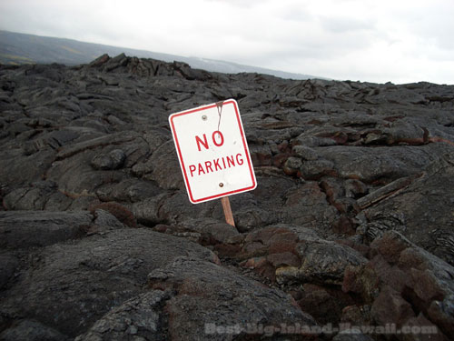 Lava Flow Hawaii No Parking