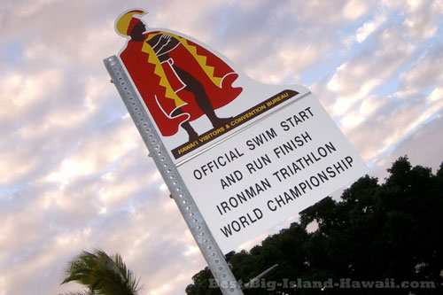 Ironman Kona Start Finish Sign