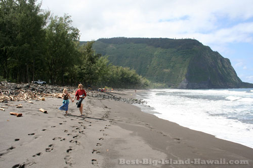 Black Sand Beach Waipio Valley